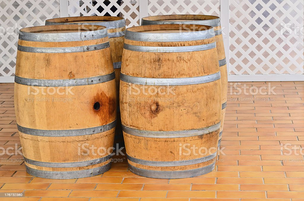 Alcohol barrels royalty-free stock photo