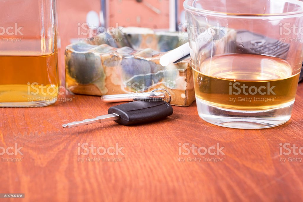 alcohol, car, keys ,tragedy stock photo