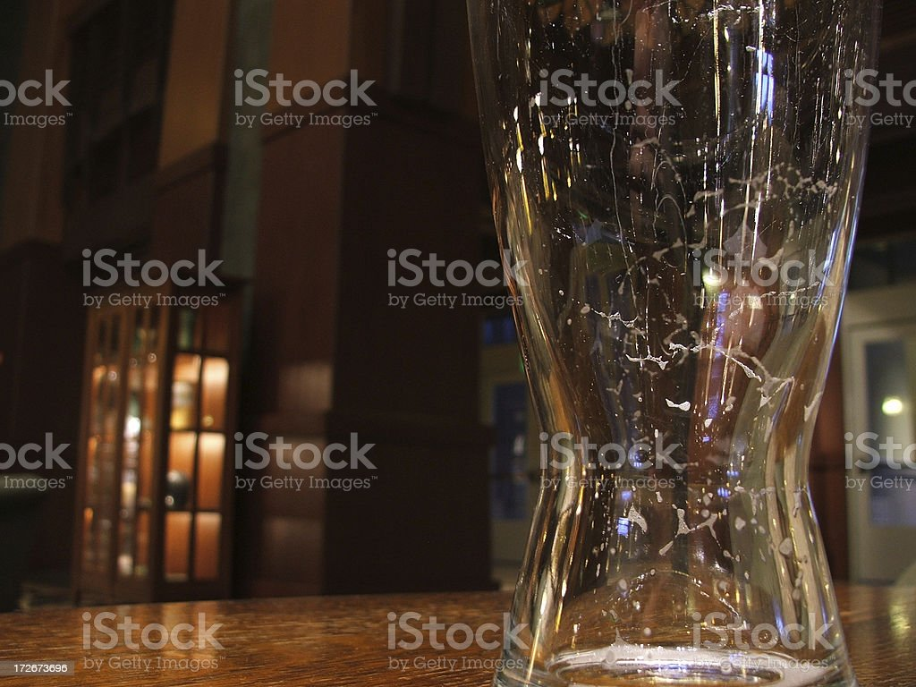 Alcohol- Empty Beer Glass stock photo