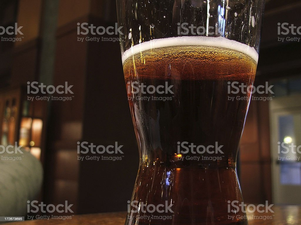 Alcohol- Glass of Ale stock photo