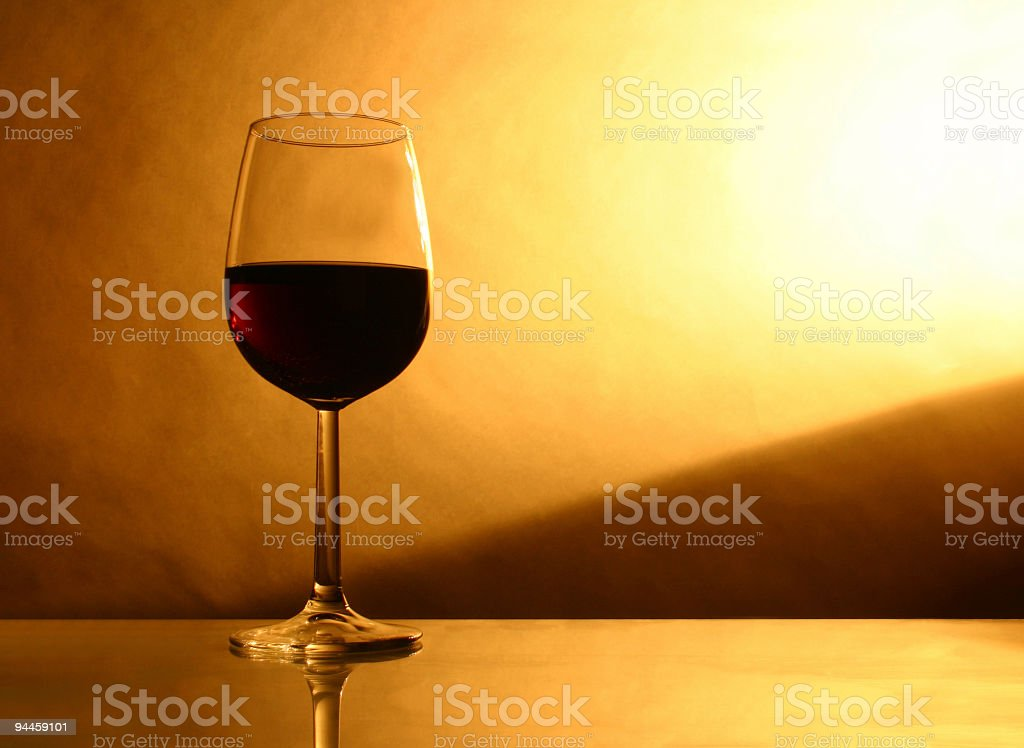 Alcohol - Glass of red wine royalty-free stock photo