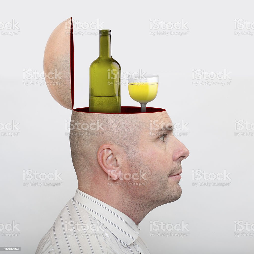 Alcohol last friend. royalty-free stock photo