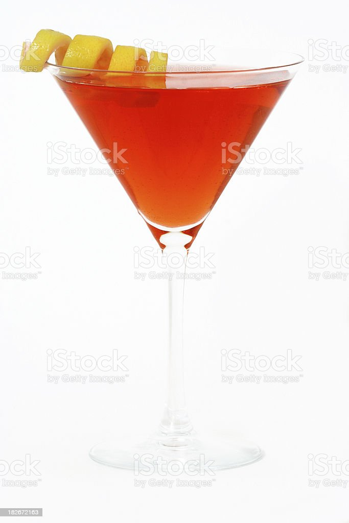 Alcohol- Martini With a Twist stock photo