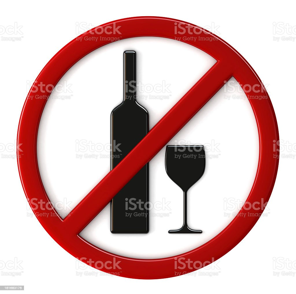 Alcohol not allowed royalty-free stock photo