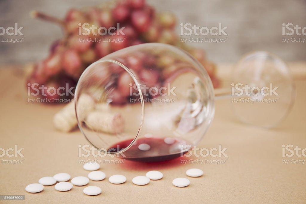Alcohol Pill stock photo