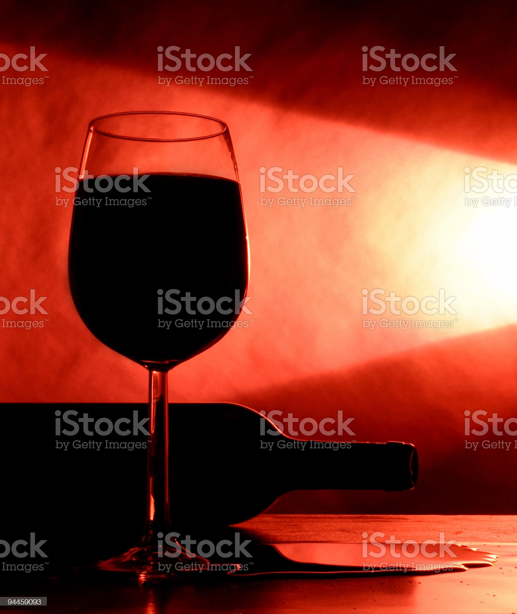 Alcohol - Red wine spillage royalty-free stock photo