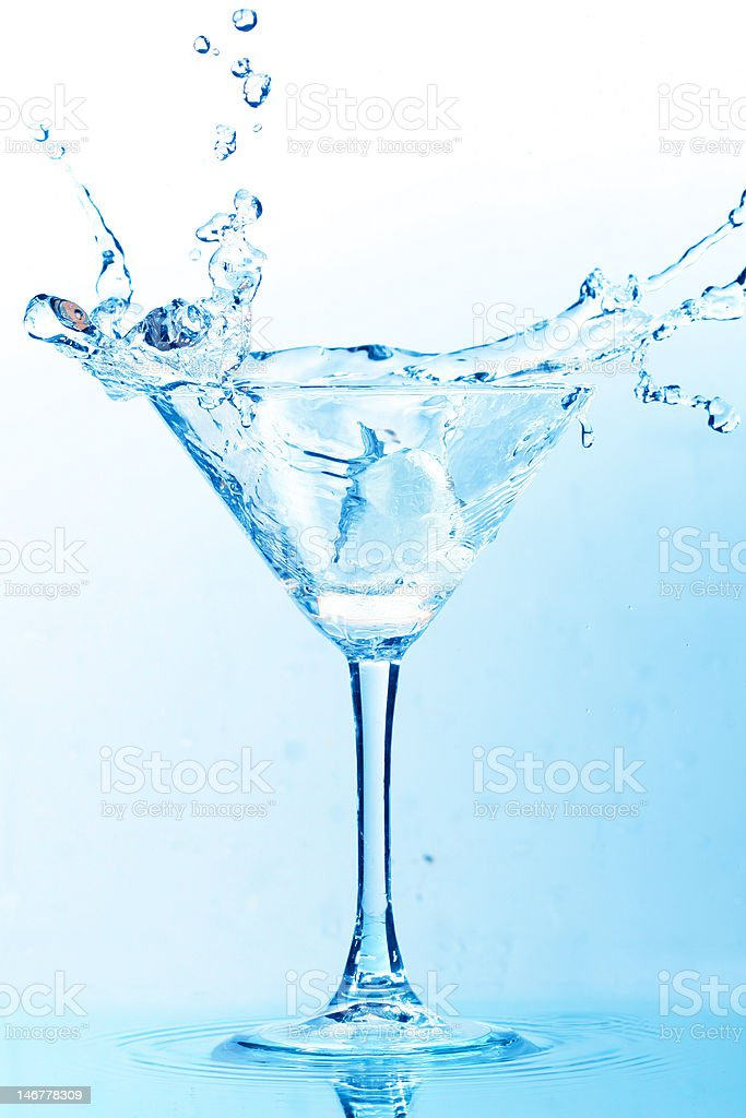Alcohol splash royalty-free stock photo