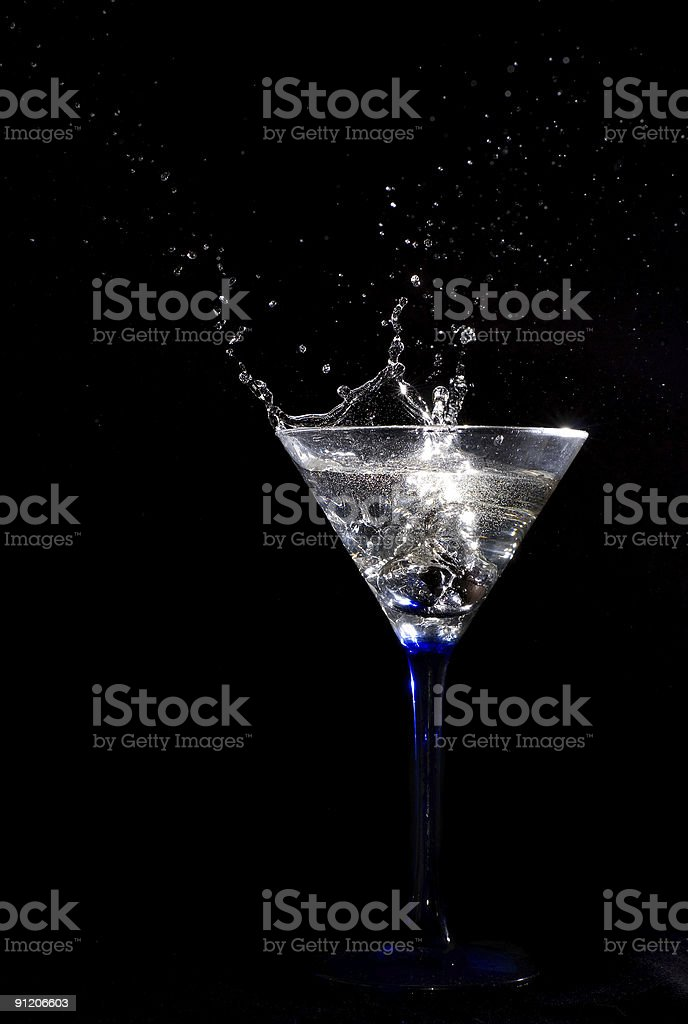 Alcohol splashing royalty-free stock photo