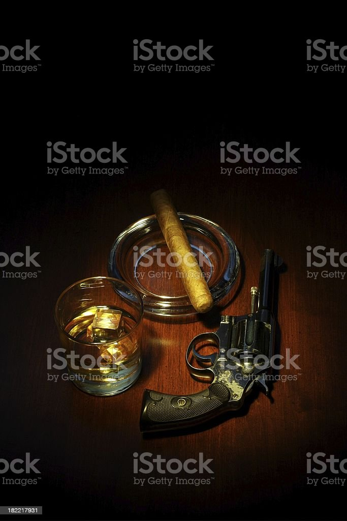 Alcohol tobacco and firearms royalty-free stock photo