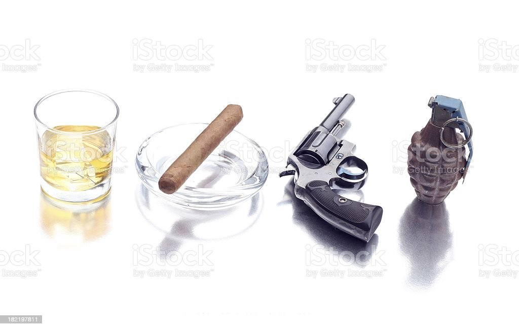 alcohol, tobacco, firearms and explosives royalty-free stock photo