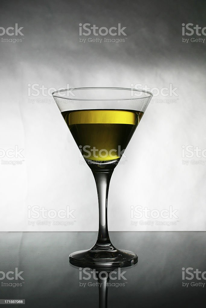Alcohol - Yellow cocktail : Close Up royalty-free stock photo