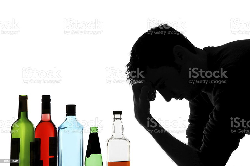 Alcoholic abuse stock photo