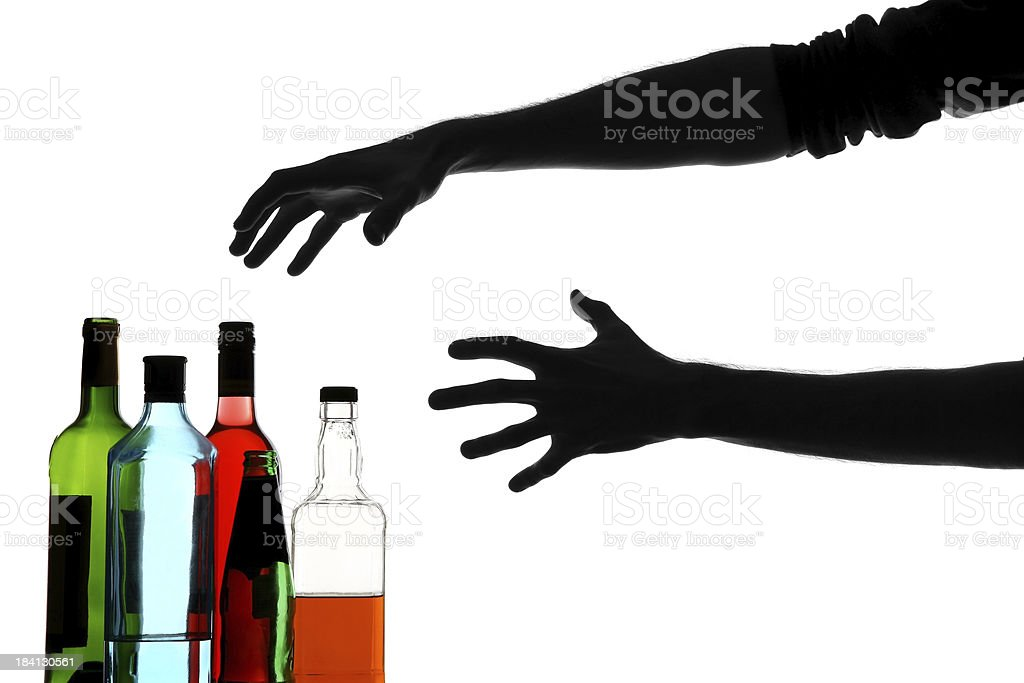 Alcoholic addiction royalty-free stock photo