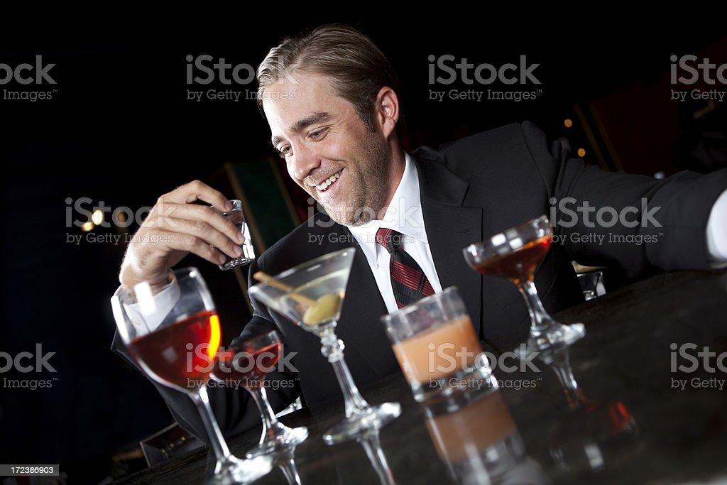 Alcoholic at a Bar royalty-free stock photo