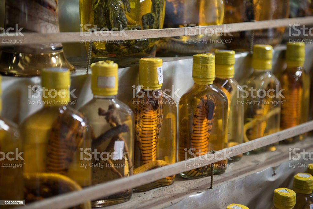 Alcoholic Beverage Being Sold stock photo