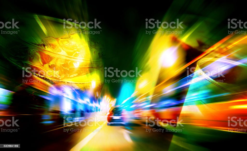 alcoholic beverages and driving stock photo