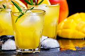 Alcoholic cocktail, mango rum