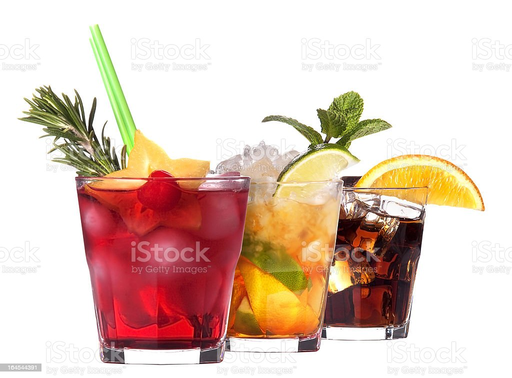 alcoholic cocktail set royalty-free stock photo