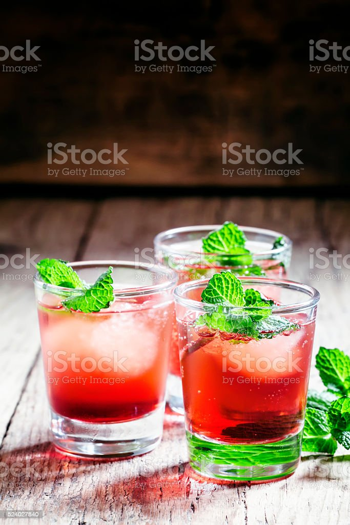 Alcoholic cocktail with white rum stock photo