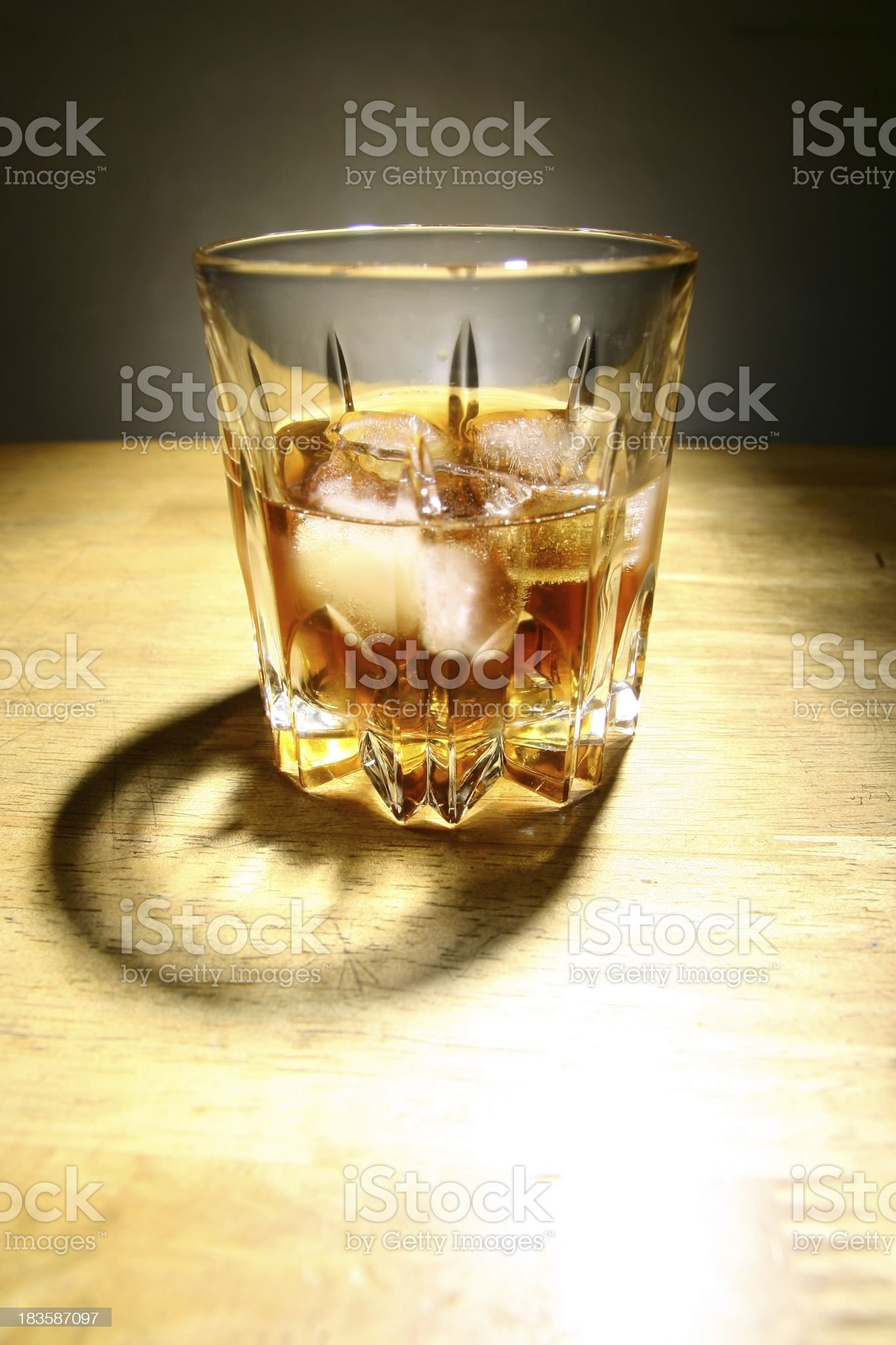 Alcoholic Drink in a Glass with Ice royalty-free stock photo