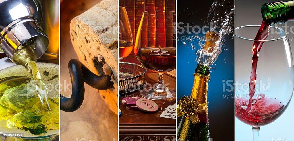 Alcoholic Drinks stock photo