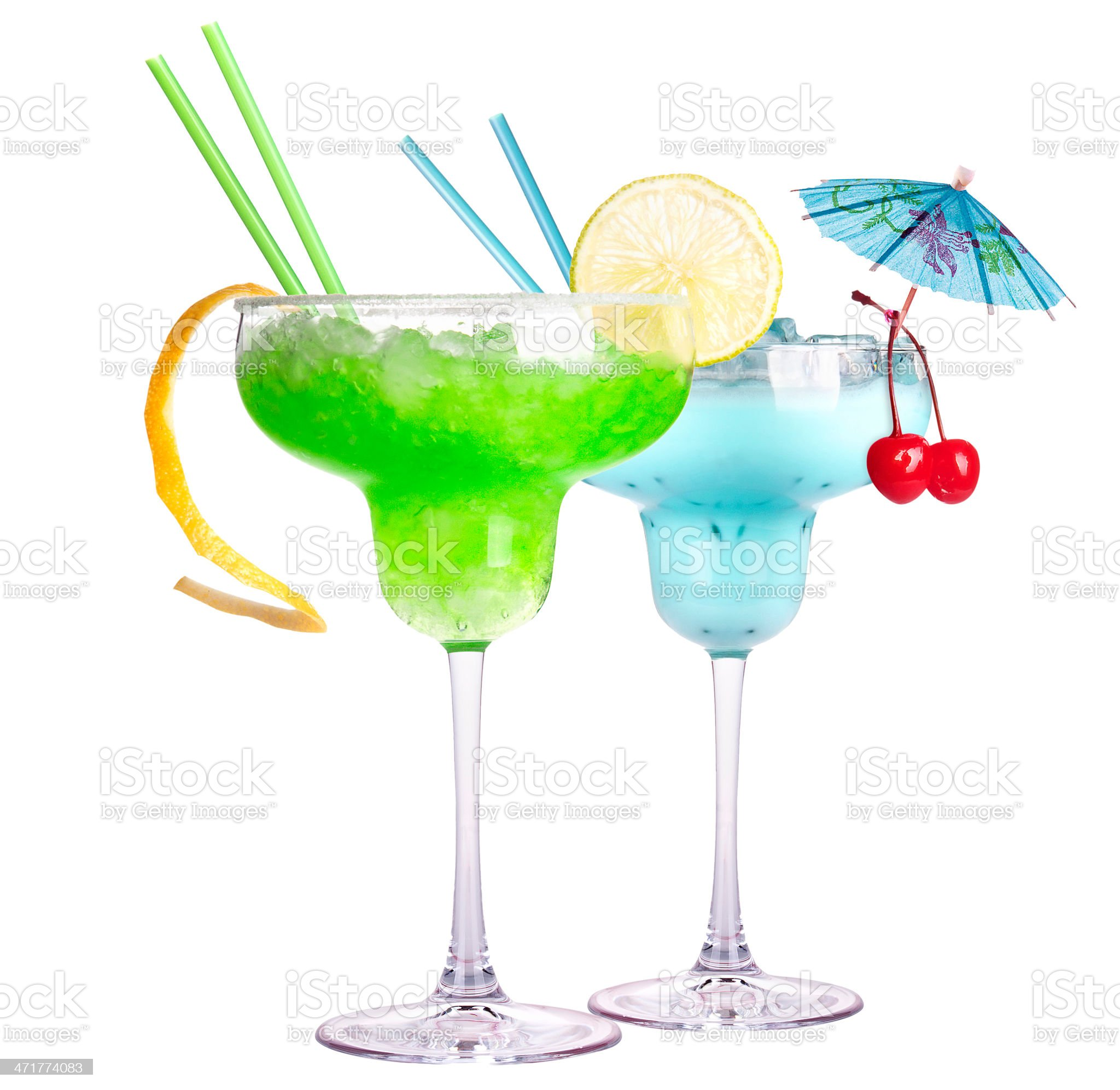 alcoholic exotic cocktail isolated royalty-free stock photo