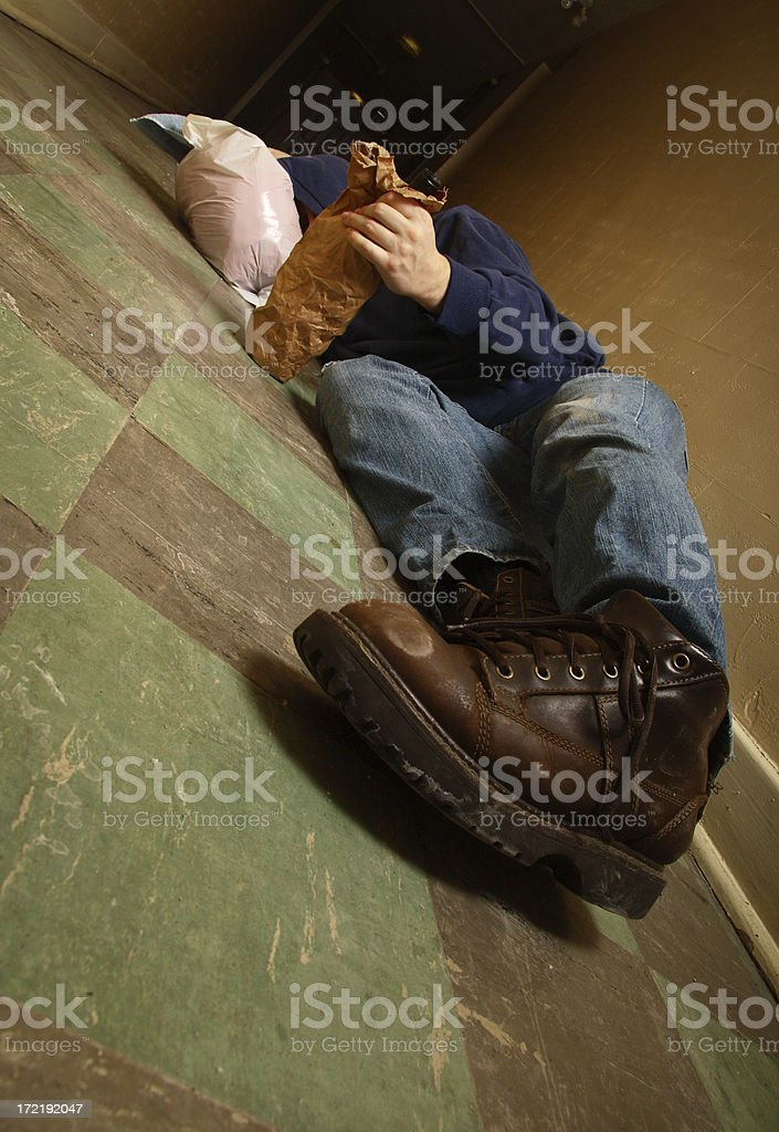 Alcoholic In The Hall royalty-free stock photo