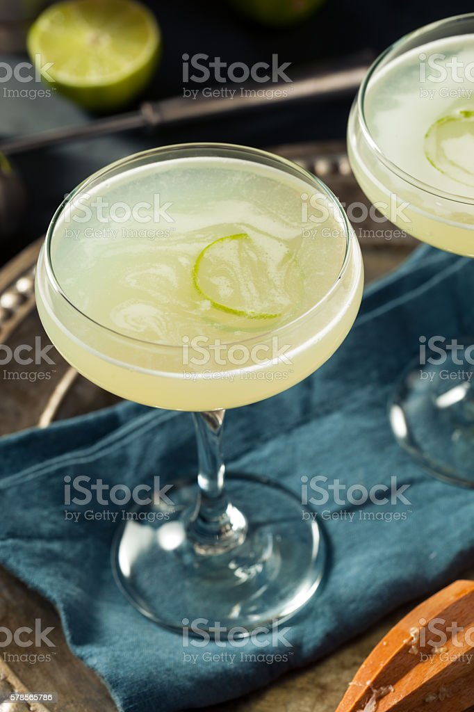 Alcoholic Lime and Gin Gimlet stock photo
