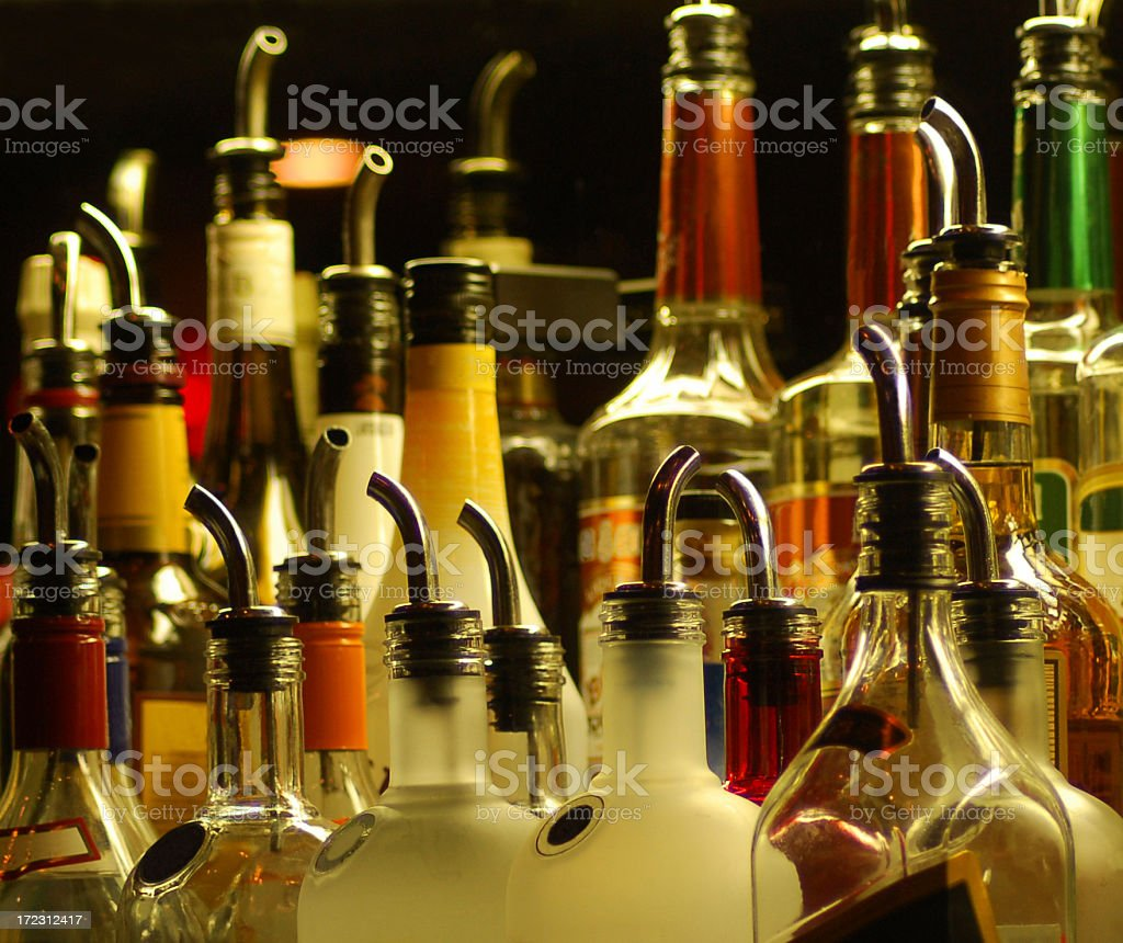 Alcoholic Pourers stock photo