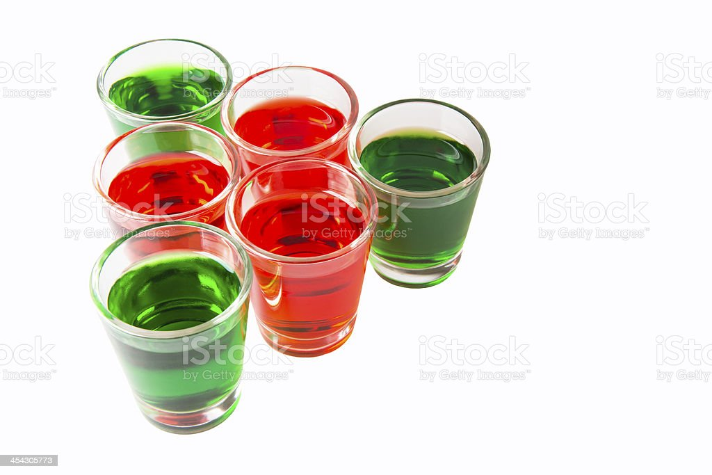 alcoholic shot cocktails royalty-free stock photo
