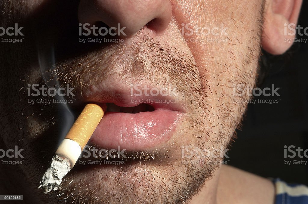 alcoholic with a stub royalty-free stock photo