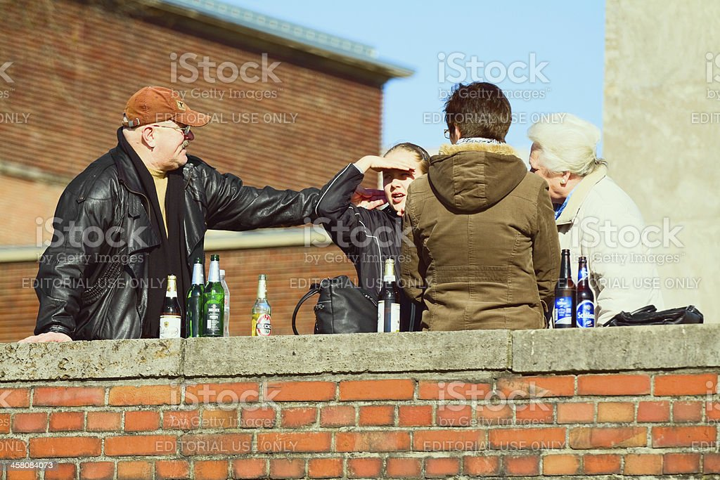 Alcoholics and publicity stock photo