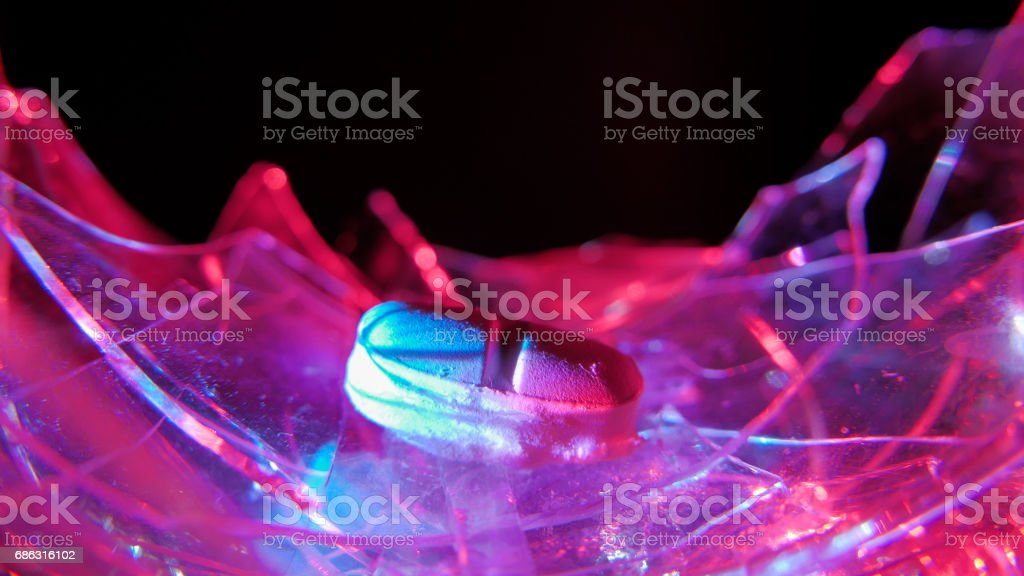 Alcoholism and drag abuse in music club stock photo