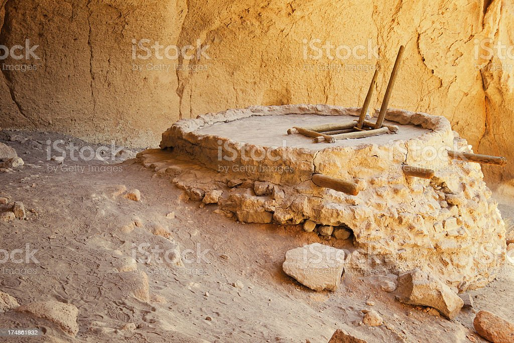 Alcove House Cliff Dwellings - Bandelier National Monument royalty-free stock photo