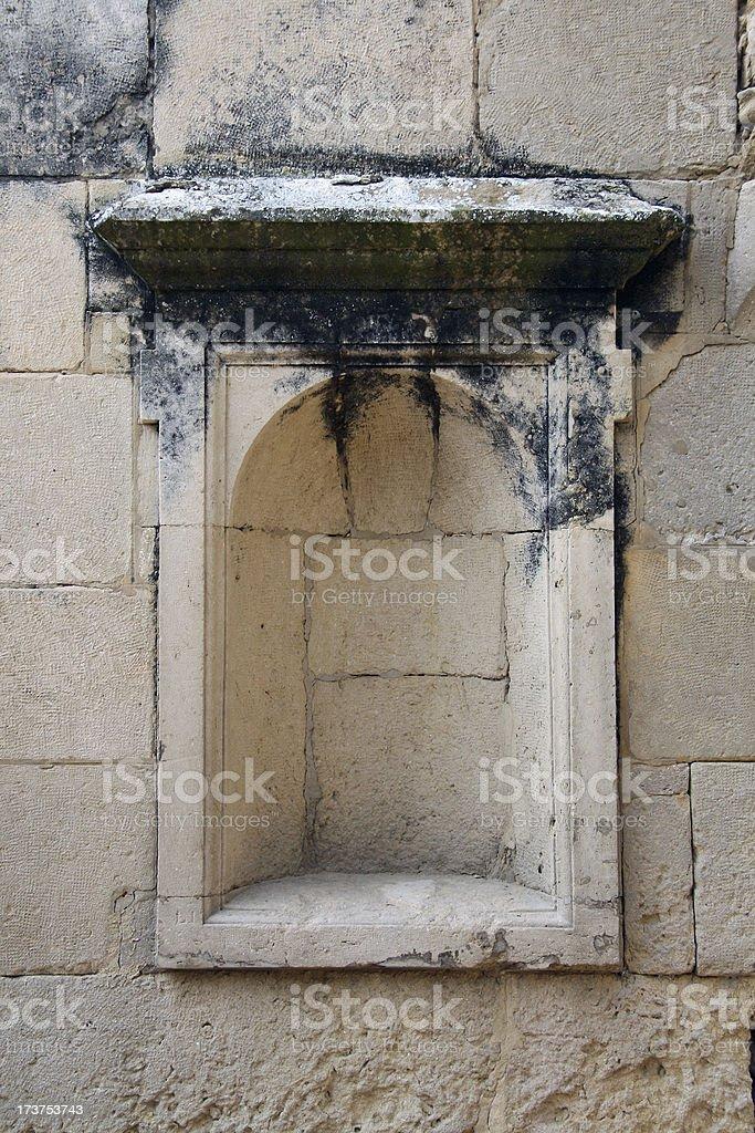 Alcove in bricks wall royalty-free stock photo