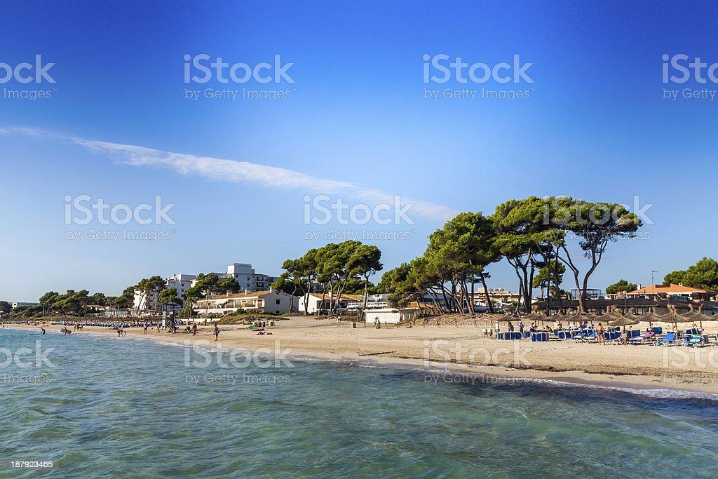 Alcudia Beach stock photo