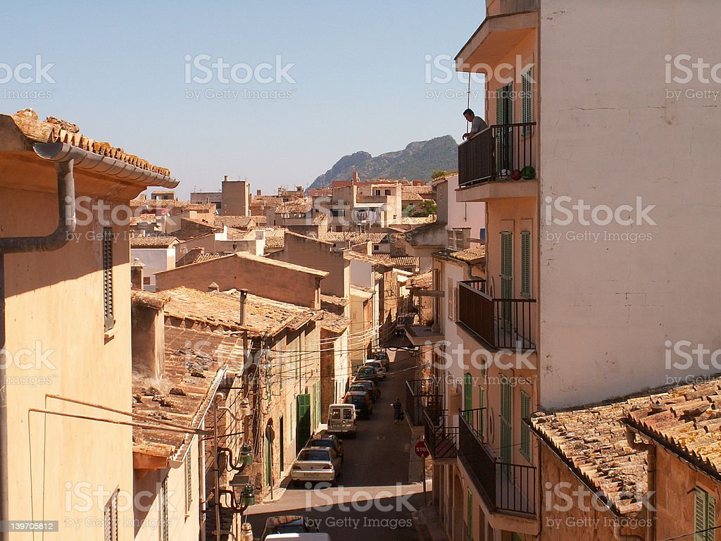 Alcudia old town stock photo