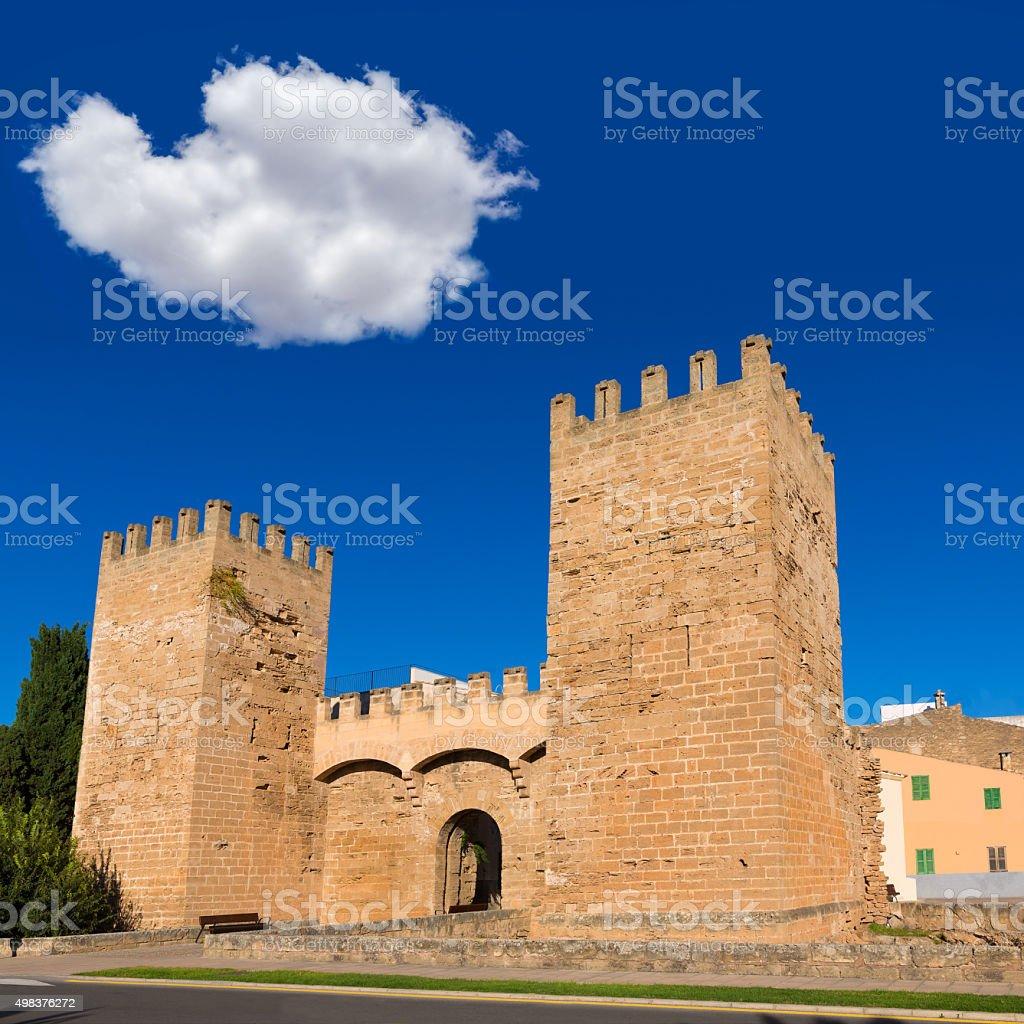 Alcudia Porta de Mallorca in Old town at Majorca stock photo