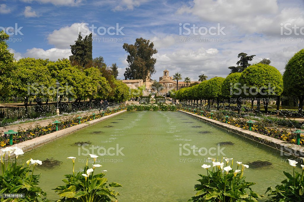 Alcázar de los Reyes Cristianos,Córdoba,Spain royalty-free stock photo