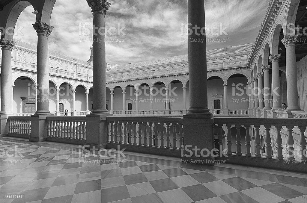 Alcázar of Toledo stock photo