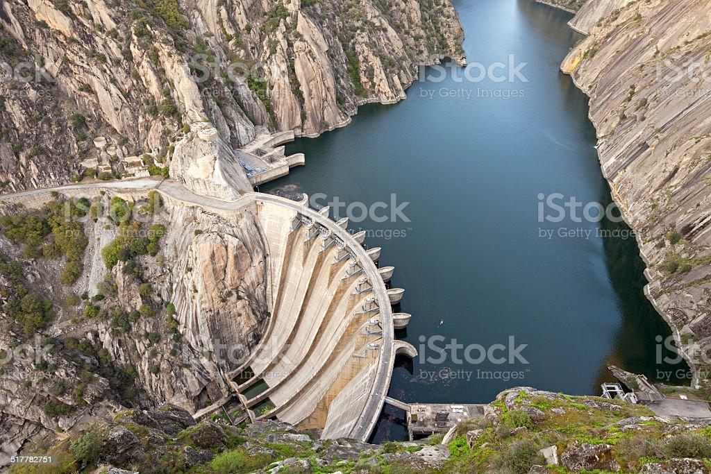 Aldeadavila Dam, Spain stock photo