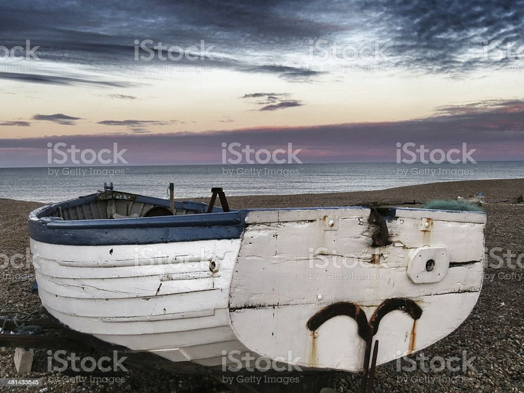 Aldeburgh, Beach, Boat, East Anglia, Pebbles, royalty-free stock photo