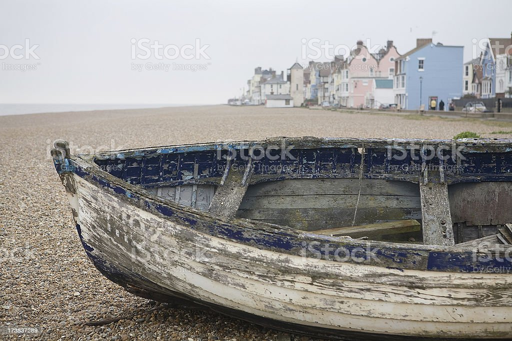 Aldeburgh fishing boats stock photo