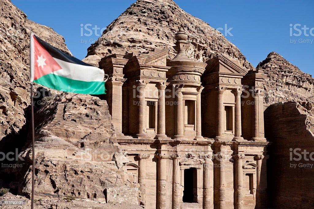 Al-Deir,Petra Monastery stock photo