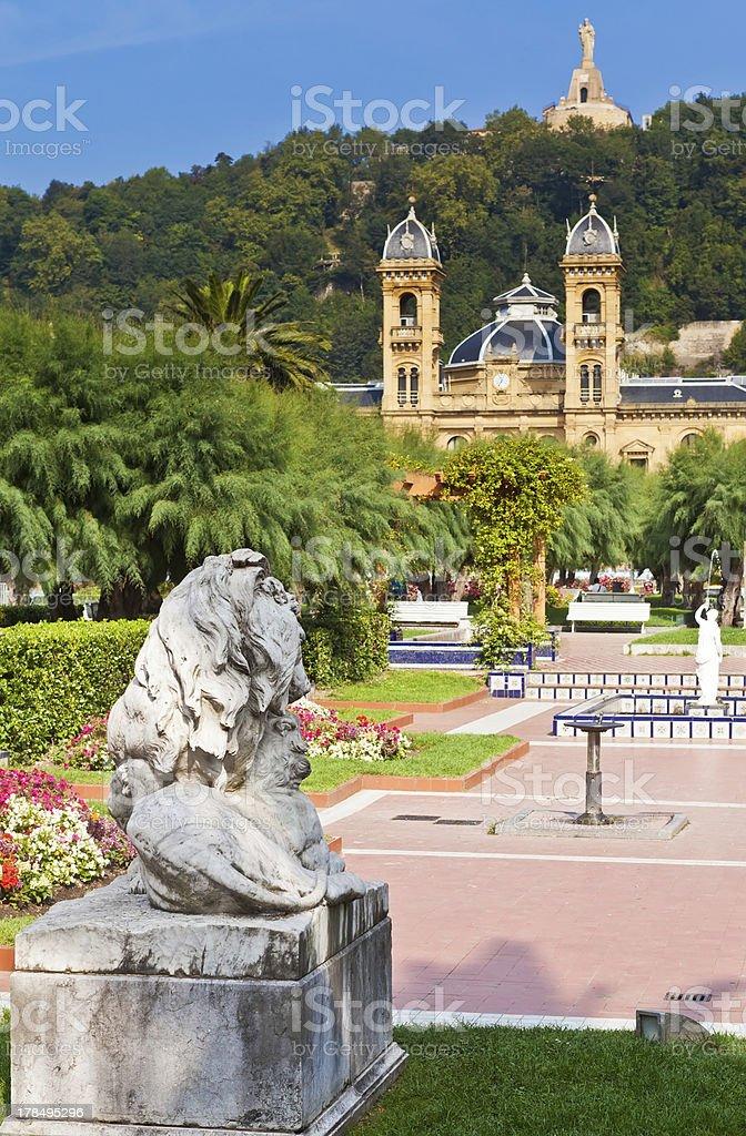 Alderdi-Eder Gardens in San Sebastian, Spain royalty-free stock photo
