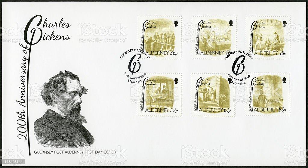 Alderney 2012 Charles Dickens (1812-1870) stock photo