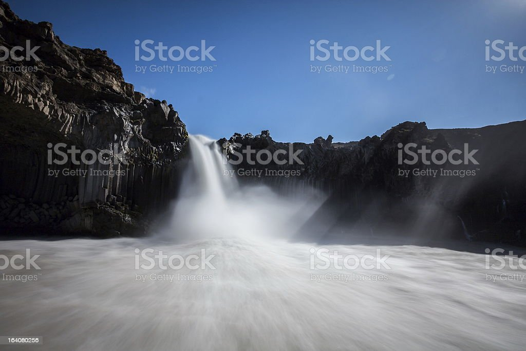 Aldeyjarfoss waterfall royalty-free stock photo