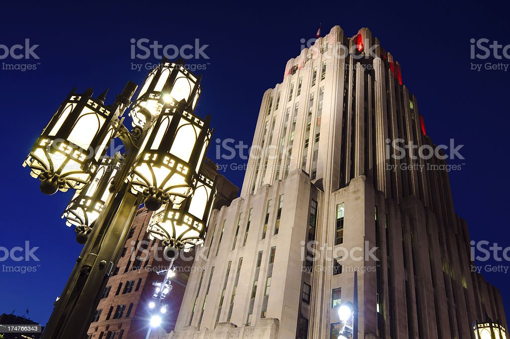 'Aldred Building at Place d'Armes in Montreal, Quebec' stock photo