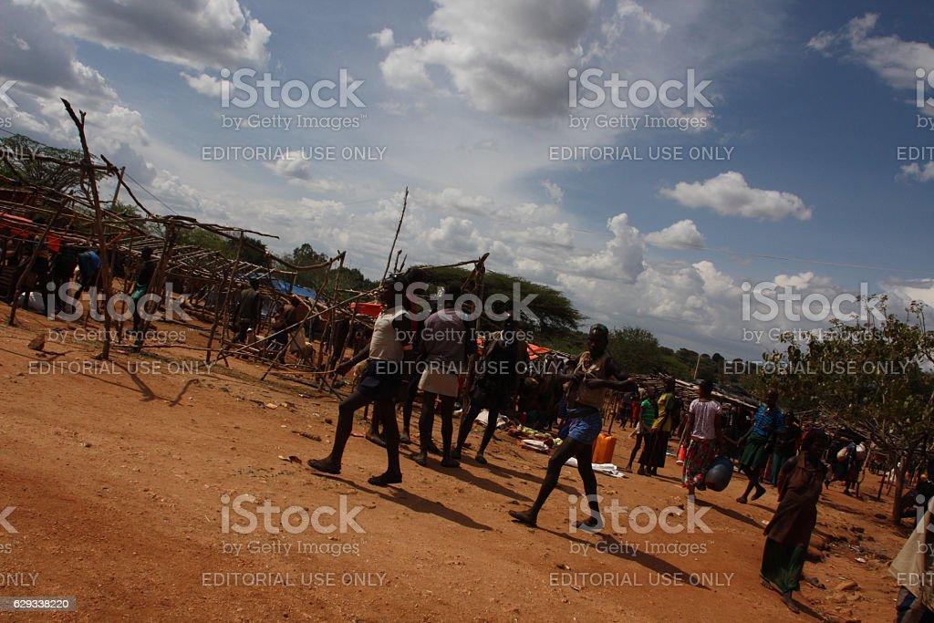 Alduba market in Ethiopia stock photo