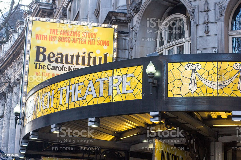 Aldwych Theatre in the West End, London stock photo